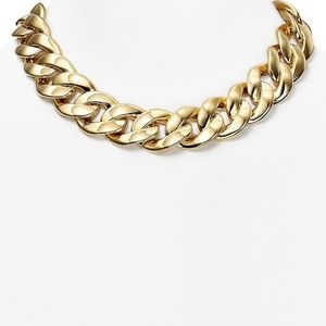 NWT Michael Kors Gold Curb Link Bold Necklace $500